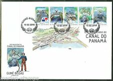GUINEA BISSAU 2014 100th ANNIVERSARY OF  THE PANAMA CANAL  SHEET FIRST DAY COVER