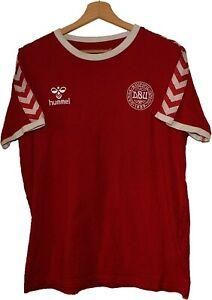 #10 DENMARK Football SHIRT Jersey HUMMEL size M COTTON Tricot Maglia Camiseta