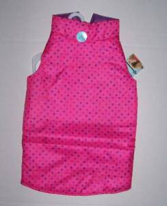 NWT Martha Stewart Pets Pink Purple Reversible Puffer Vest Dog Size Large or XL