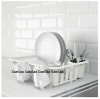 High Grade Plastic Dish Drainer Plate and Cutlery Rack Holder Kitchen Sink Rack