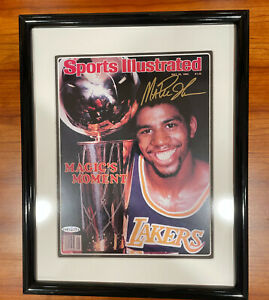 Magic Johnson 1980 Autograph Sports Illustrated Cover Framed Upper Deck COA