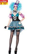 F1536 Manic Mad Hatter Adult Women Costume Alice in Wonderland Halloween Costume