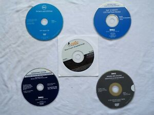 Dell Lot of  Drivers and Utilities System Software CDs and 1 New Roxio CD