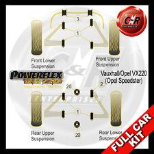 Opel Speedster Powerflex Black Complete Bush Kit