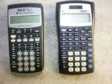 Texas Instruments (2) Lot Business Analyst Baii Plus and Ti-30X Iis