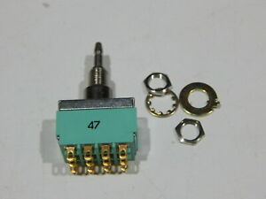 ALCO MPA406N 4PDT ON-ON PANEL MOUNT PUSH BUTTON SWITCH 6A 125V