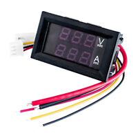 DC0-100V 100A 50A 10A LED DC Dual Display Digital Voltage Current Meter Hea D2E7