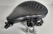 Large Solo Seat Heavy Duty Full Kit Black & Bronze Harley Chopper Bobber Trike