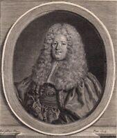 Portrait XVIIIe Jérôme d' Argouges De Ranes Lieutenant Civil Maître Des Requêtes