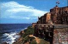 San Juan Puerto Rico postcard 1983 el fuerte de San Felipe del Moro Küste Burg