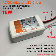 Adaptador controlador LED AC 110V 220V 230V a 12V 1.5A Módulo de Fuente de Alimentación Transformador