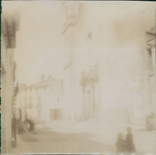 Espagne, Buñol, L'Église, 1908, Vintage citrate print Vintage citrate print