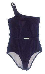 Victoria's Secret One Piece Belted Asymmetric One Shoulder Swimsuit Purple M