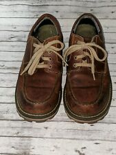 Timberlands Men's SZ:8 Style 21054 brown Leather, 4 Eyes, great shape