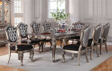 NEW 7PC CHANTELLE FORMAL FRENCH ANTIQUED PLATINUM SILVER WOOD DINING TABLE SET & Acme Dining Furniture Sets with 9 Pieces | eBay
