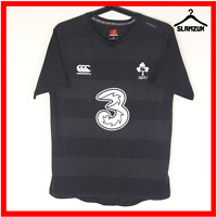 Canterbury Ireland Rugby Shirt S Small Vapodri Black Away Training Jersey IRFU
