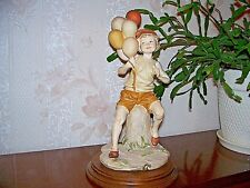 """G.Armani Figure Figurine Statue Sculpture,""""Happy and Free"""", Boy with Balloons"""