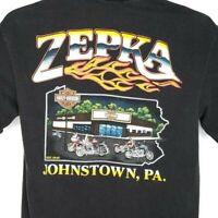 Zepka Harley Davidson T Shirt Vintage 90s Johnstown PA Made In USA Size Medium