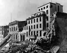 WWII B&W Photo Adolf Hitler HQ Reich Chancellery Berlin  1945   WW2 / 2323  NEW