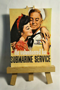 World War 2 Poster ACEO Original PAINTING by Ray Dicken