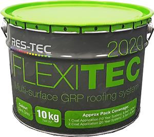 Resin Top Coat Flexitec 2020, Flexible GRP Fibreglass Roofing for Flat Roofs
