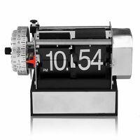 Vintage Retro Modern Auto Flip Gear Scale Design Metal Digital Desk Alarm Clock