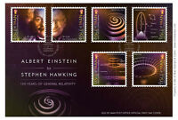 Official Einstein to Stephen Hawking General Relativity First Day Cover (UK91)