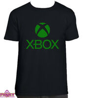 XBOX T-SHIRT Top Gamer Gaming logo cult retro Adult kids Black T-Shirt