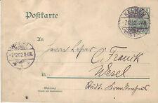 Reich Brief ( Germania Ganzsache ) Keeken > Wesel vom  07.12.1902