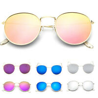 Men Women's Vintage Fashion Round Sunglasses Cute Retro Oversized Mirror Glasses