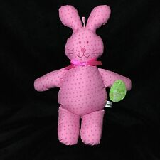 "Commonwealth Pink Polka Dot Cloth Bunny Rabbit Plush Soft Toy Target 15"" 2001"