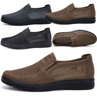 Men's Summer Breathable Mesh Casual Shoes Breathable Antiskid Slip on Loafers US