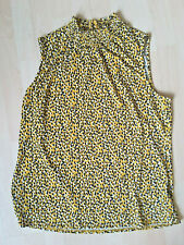 ADRIANNA PAPPELYELLOW AND BLACK TOP SIZE LARGE