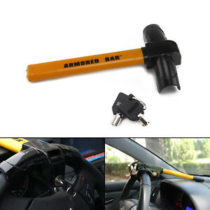 TOP Heavy Duty Anti Theft T-Rotary Steering Wheel Lock CAR VAN MOTORHOME 2 Keys