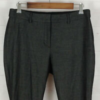 Express womens size 10s stretch gray mid rise skinny dress career pants EUC