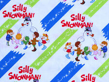 8 YARD BOLT FROSTY SILLY SNOWMAN NOVELTY WINTER QUILTING TREASURES COTTON FABRIC