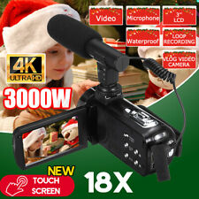 3000W Video Digital Camera Camcorder HD 1080P Vlogging YouTube Touch Screen .