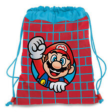 Backpack drawstring SUPER MARIO red e blue in cordura heavy 41,5x33 cm