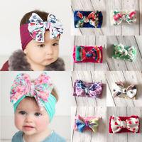 Hair Band Girls Elastic Newborn Knot Turban Head Wrap Infant Baby Bow Headband