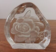 Darlington Crystal Rose Cut Paperweight By Caperdoni Signed