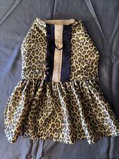 Designer Dog Dress, Emma Rose Designs, Leopard Print , Hand Made Size 14 Small
