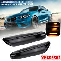 Paire LED Ambre Clignotant Dynamique Repetiteur Noir for BMW E46 E60 E61 E90 E91