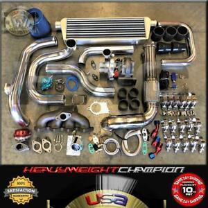92-00 Civic EG EK/EJ DelSol Sohc D15 D16 Bolt-On Turbo Kit T3/T4 KEEP AC PW K