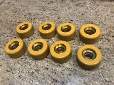 8 Labeda Golden Metal Hub 62mm ROLLER SKATE WHEELS
