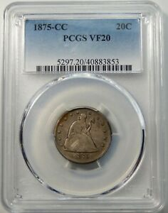 1875 CC Twenty Cent Piece - PCGS Certified VF20 !!