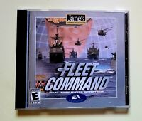 Jane's Fleet Command PC CD Rom 2001 Naval Strategy Rated Everyone Free Shipping