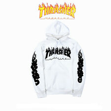 2017 New Men Women Thrasher Flame Pullover Hoodie Sweaters Skateboard Sweatshirt