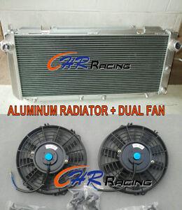ALUMINUM RADIATOR &DUAL FAN FOR Toyota MR2 SW20 2.0 REV1 REV2 REV3 TURBO