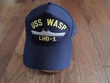 USS WASP LHD-1 NAVY SHIP HAT U.S MILITARY OFFICIAL BALL CAP U.S.A MADE