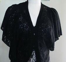Covington Petite Batwing Sleeve Wrap Black Sz SP Washable MSRP $40 Now $19.99
